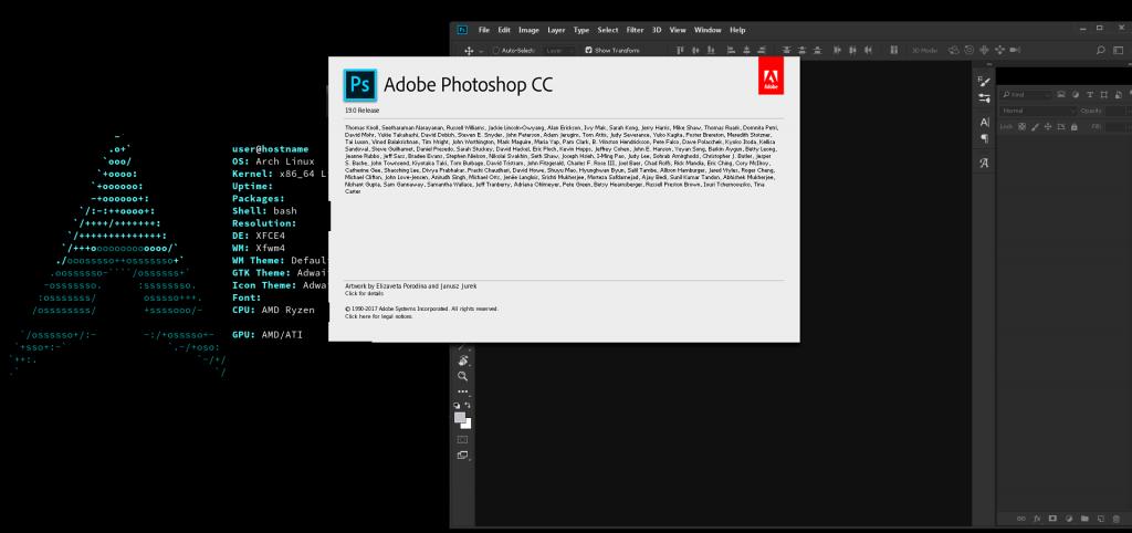Arch Linux Photoshop CC 2018-2019 WORKING - Sick Codes - Linux