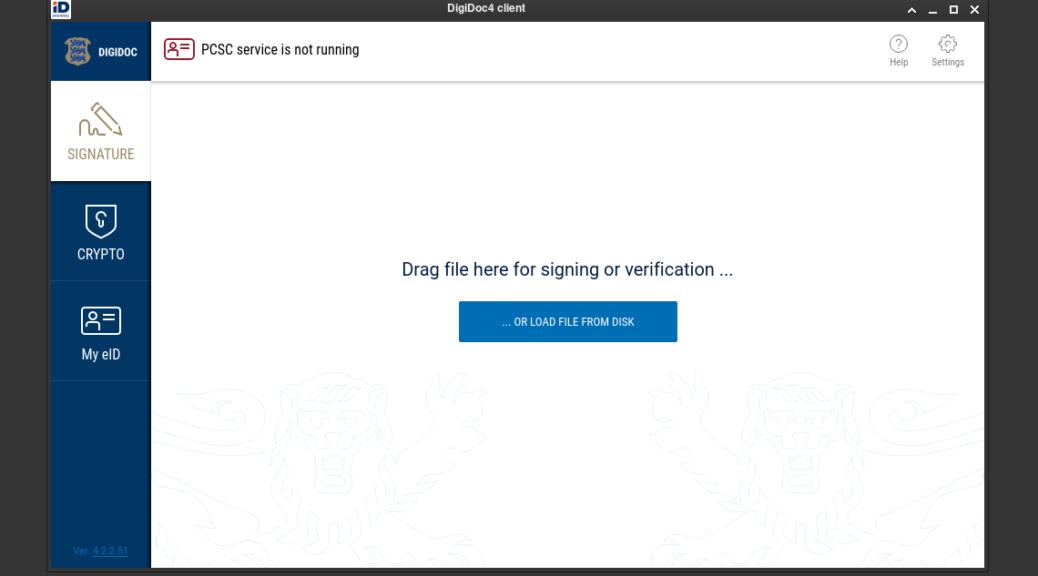 Estonia RIK Signing Linux Arch