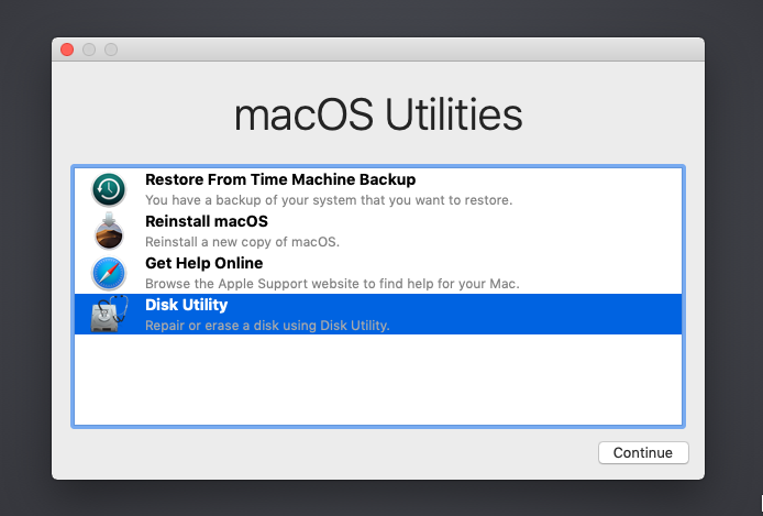 macOS on Linux Disk Utility