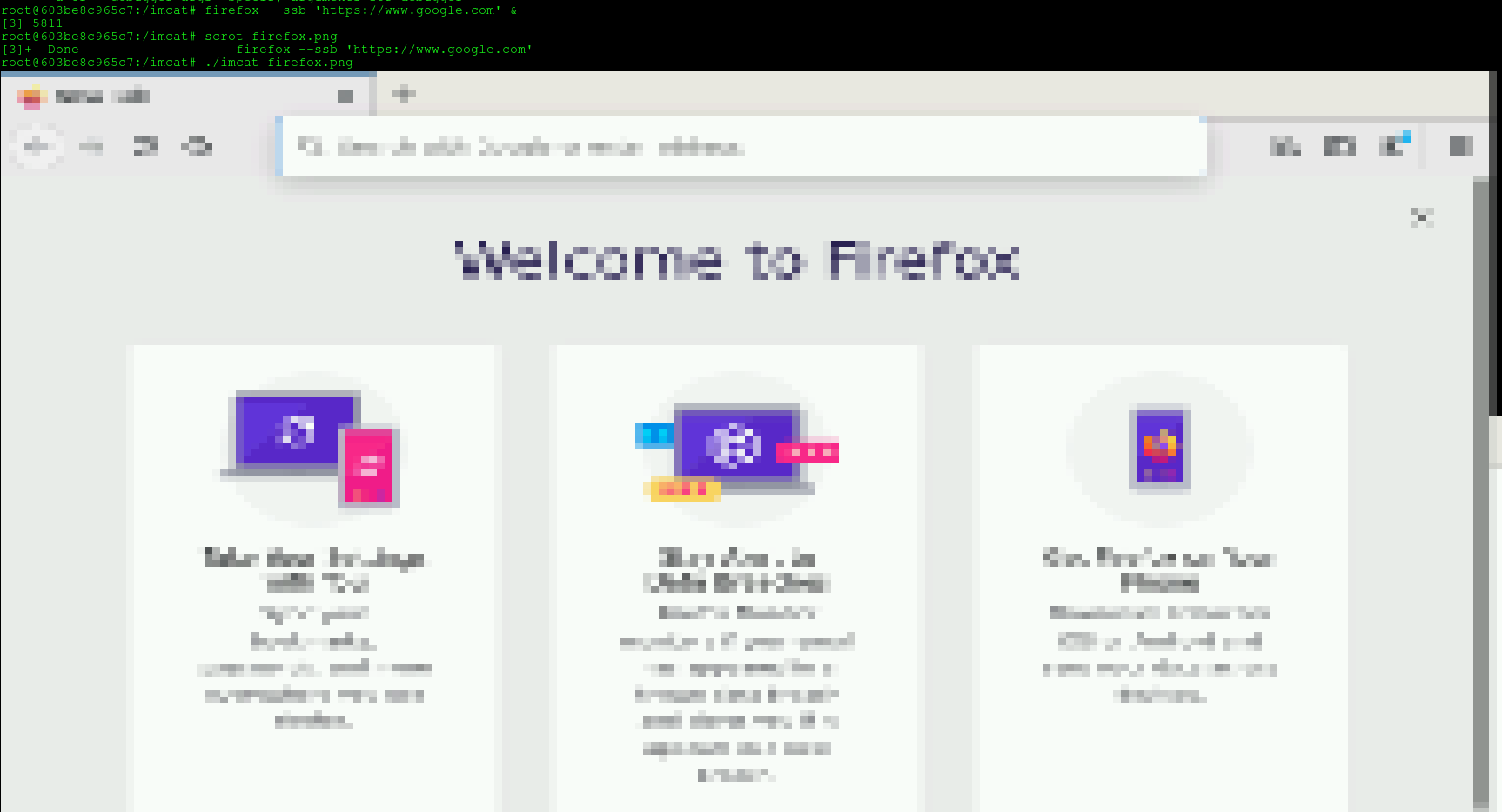 firefox screenshot inside docker container