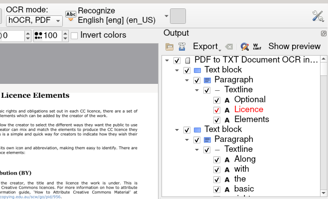 Convert images and pdf to text in Linux keep formatting